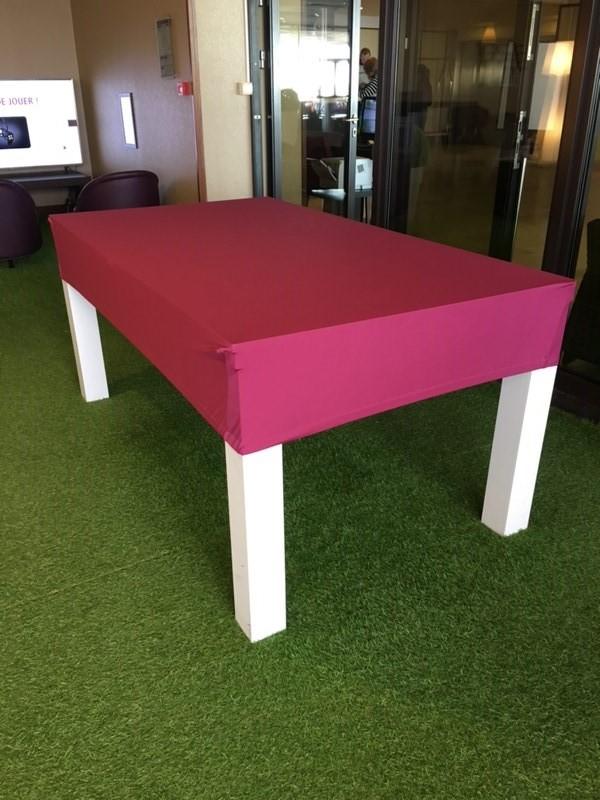 housse de billard lycra coloris rose pour billard 8 pool